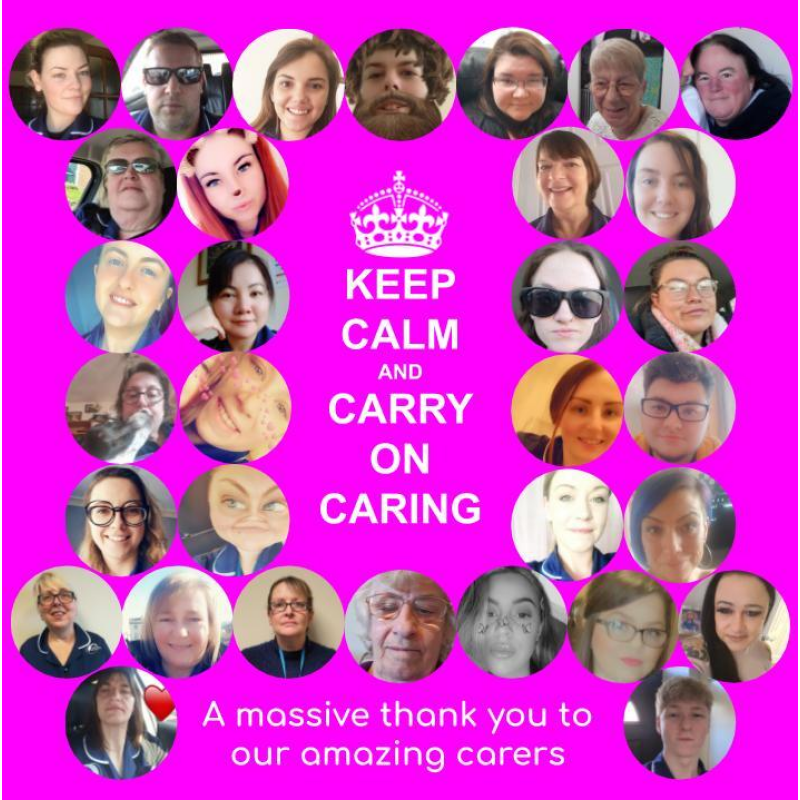 Keep Calm and Carry On Caring